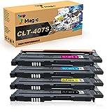 Samsung CLT-4072S Compatibile 7Magic Cartuccia di toner CLT-4072S K4072S C4072S M4072S Y4072S Compatibile per Samsung CLP-320 CLP-325 CLX-3180 CLX-3185 stampanti(1 Nero/1 Ciano/1 Magenta/1 Giallo)
