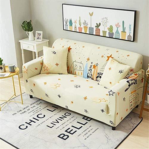 HFTYCC Funda de sofá Gruesa, Elegante Jacquard para decoración del hogar, Funda de sofá para Banco, Tela elástica extraíble y Lavable Antideslizante, Funda Protectora para Mascotas-1 Seater_Bear