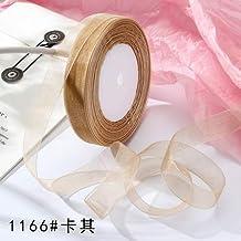 DDDCM 15mm 50 yards/roll garen lint gift bruiloft Kerstversiering verpakking kant handgemaakte stoffen witte chiffon lint...