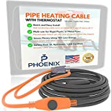 PHOENIX CABLES USA Pro Cold Weather Valve and Water Pipe Heating Cable/Multi-use for rigid plastic...