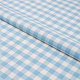 Hans-Textil-Shop Stoff Meterware Karo 1x1 cm Türkis