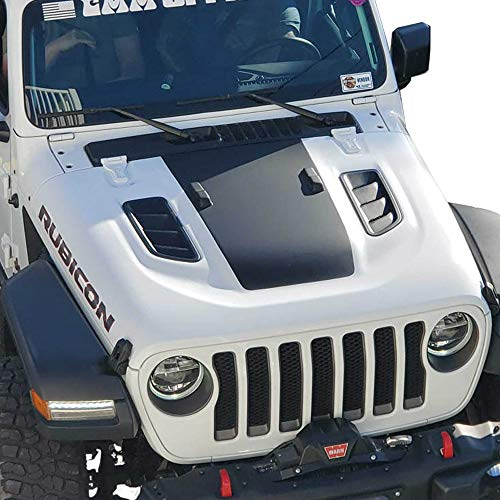 Hood Blackout Vinyl Decal Compatible with Jeep Wrangler JL 2018+ and...