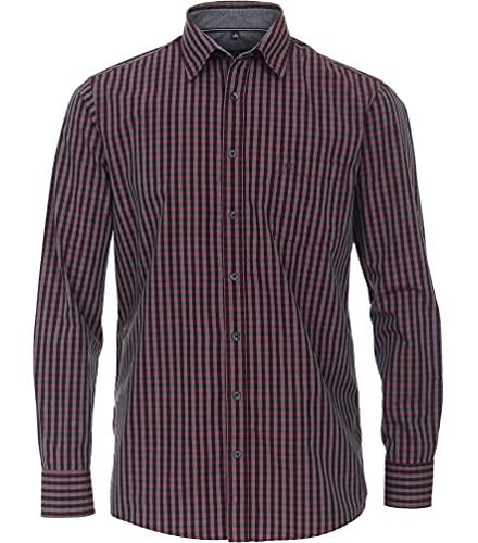 CASAMODA Comfort Fit Freizeithemd Langarm New Kent Kragen Karo rot Größe XXXL