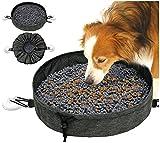Alfombra Olfativa Perros Desgaste Juguetes Interactivos para Perros Plegable y PortáTil Snuffle Mat Lavable con 2 Ventosas (Gris)