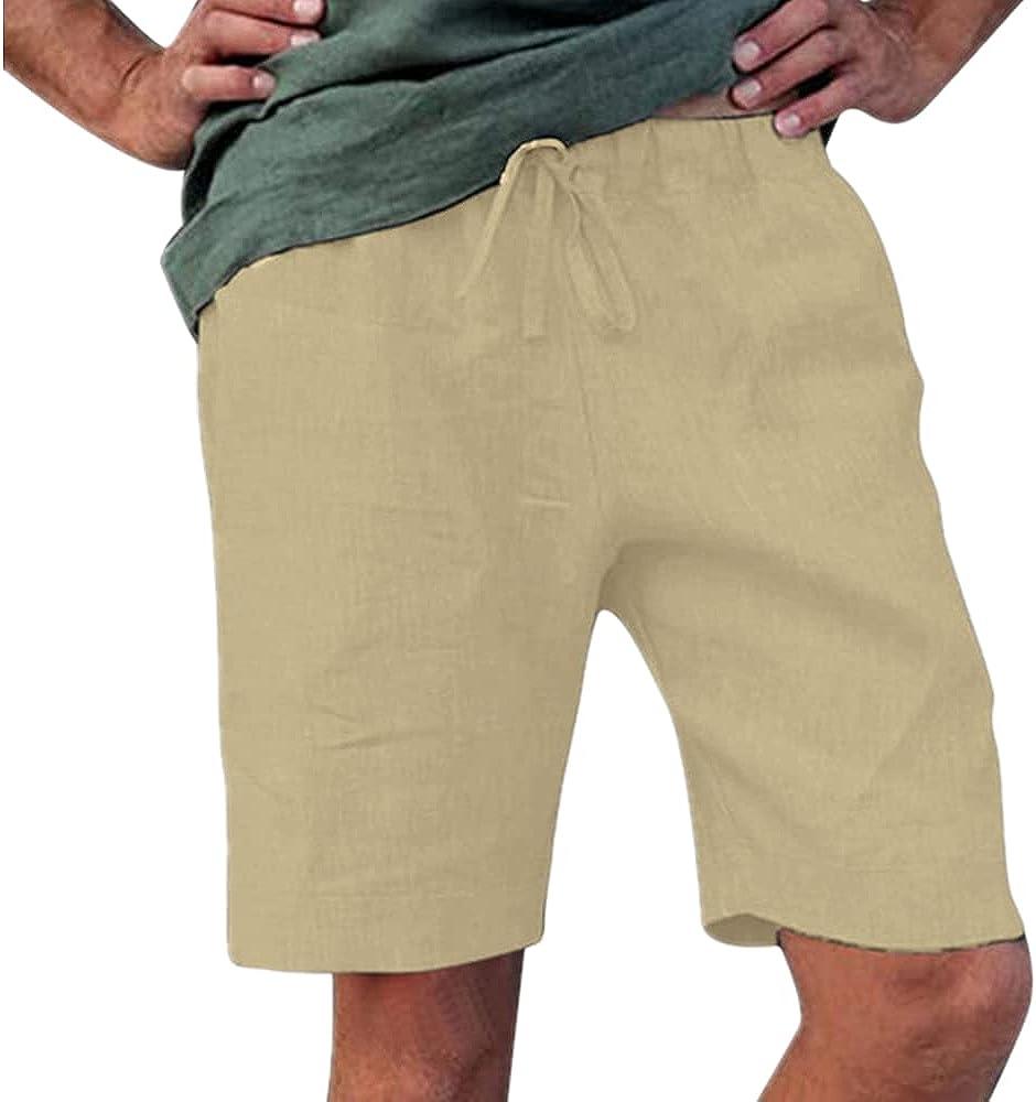 NP Men's Summer Clothing Casual Man Loose Hemp Shorts Pants Shorts