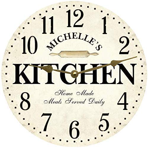 Personalized Kitchen Wall White Clock Max 45% OFF 67% OFF of fixed price Clock-