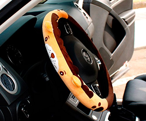 Follicomfy Cartoon Automative Steering Wheel Cover General 15', Anti Slip, Fox