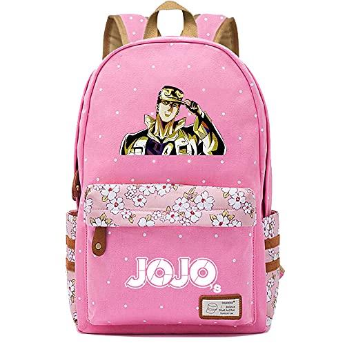 SHU-B Mochila para Chicas, JoJo's Wonderful Adventure Moda Impreso Universidad Bolsas Estudiante Escuela Mochila Laptop Viajes Bolsa Daypack