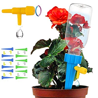 Plant Waterer, Self Watering Spikes, Plant Watering Devices With Slow Release Control Valve Switch, Automatic Vacation Drip Watering Bulbs Globes Stakes System For Indoor & Outdoor Plants (12 pack) from getbear
