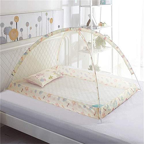 90x120cm Babybed Klamboe, Canopy Klamboe Tent Foldable Portableanti-Mosquito stofdicht winddicht baby Klamboe, Pink, 90times; 120cm dmqpp (Color : Beige, Size : 90×120cm)