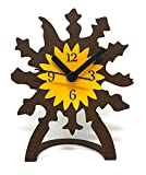 Reloj de sobremesa Eguzkilore de forja para la Decoracion de el hogar.
