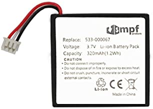 MPF Products 320mAh 533-000067 AHB472625PST Battery Replacement Compatible with Logitech H800 Wireless Headset 981-000337