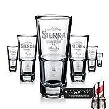 6 x Sierra Tequila Glas Gläser Longdrink Stapelbar Gastro Bar Deko NEU + anygoods...
