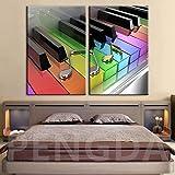 sanzangtang Pintura sin Marco Decoración del hogar Arte de la Pared Impresiones HD HD Color Piano Estilo Moderno Fondo de cabecera ZGQ2773 30x60cmx2