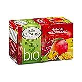L'Angelica, Infuso Bio Mango e Melograno, Infuso a base di Mango e Melograno, Infuso Biologico e Antiossidante, Tisana Bio, Tisana Antiossidante, 10 Confezioni da 15 Filtri