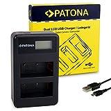 PATONA Cargador Doble LCD USB para NP-W126 Bateria Compatible con Fujifilm Fuji FinePix HS50EXR, HS30EXR, HS33EXR, XPro 1