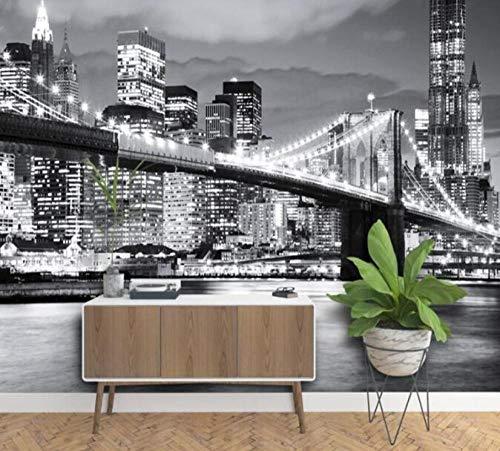 3D vliesbehang foto vlies premium fotobehang Brooklyn Bridge New York designer wandfoto vinylbehang 200*140 200 x 140 cm.