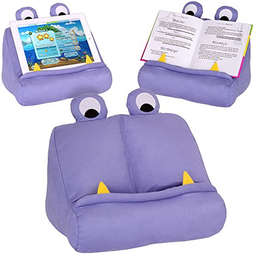 BookMonster Book iPad Tablet Holder Novelty eReader Rest Sofa Pillow Stand Gift Idea - Purple