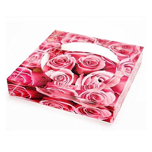 cendrier Xuan - worth having 3D Rose Ocean Square cristal Mode Cadeaux créatifs Accueil Décoration de salon (taille : 13*13*2.8cm)