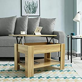 Coffee Table With Storage Lift Up Coffee Table For Living Room Modern Coffee Tables Large Hidden Compartment Wood Fold…