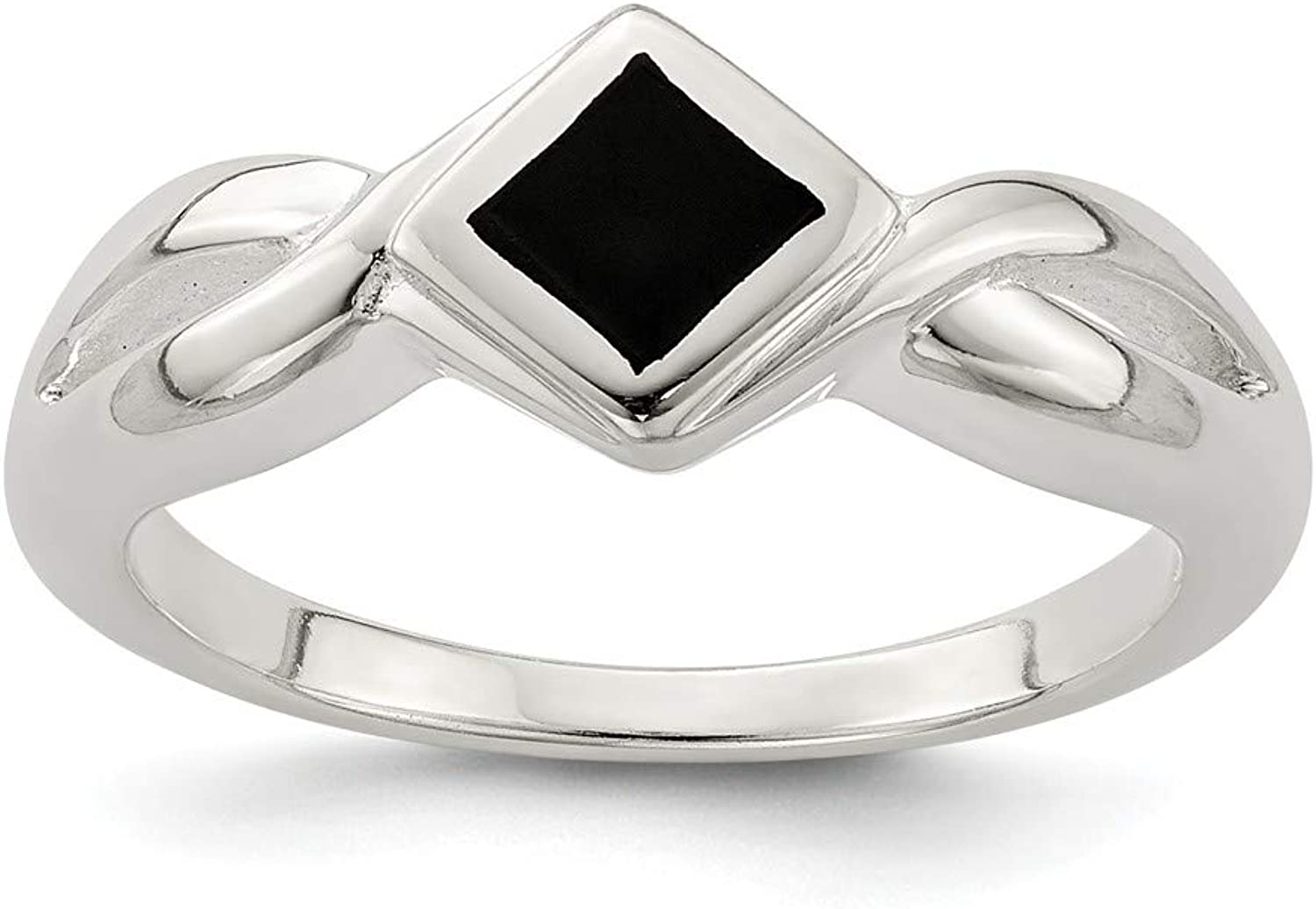 Beautiful Sterling silver 925 sterling Sterling Silver Onyx Ring