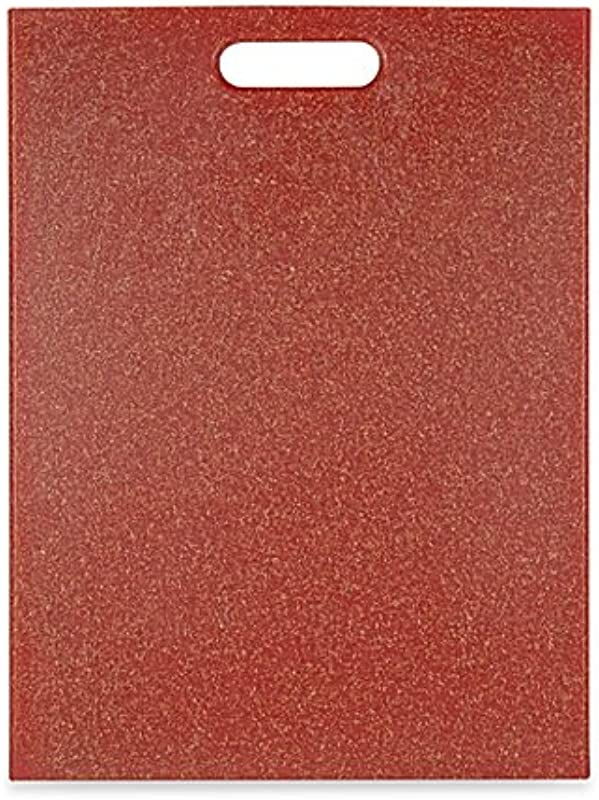EcoSmart Poly Flax Red 12 Inch X 16 Inch Cutting Board Made Of 100 Recycled Food Grade Plastic And Premium Flax Husk Blend