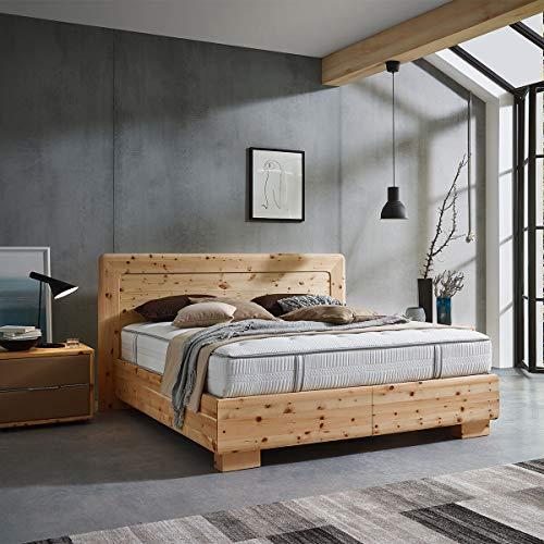 4betterdays.com NATURlich leben! Boxspringbett aus 100% Zirbenholz 180x200 cm - mit ergonomischer Unterfederung - 7-Zonen Tonnentaschenfederkern - Handmade in Austria