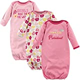 Luvable Friends Unisex Baby Cotton Gowns, Girls Rule, 0-6 Months