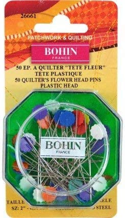 Kansas City Mall Flower Head Pins-50Pk - BOF26661 Bohin- Brand new