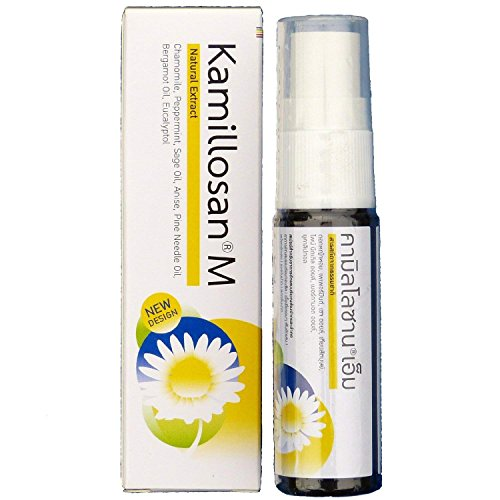 Kamillosan M Mouth Spray Anti Bacterial Tonsil Bad Breath 15ml