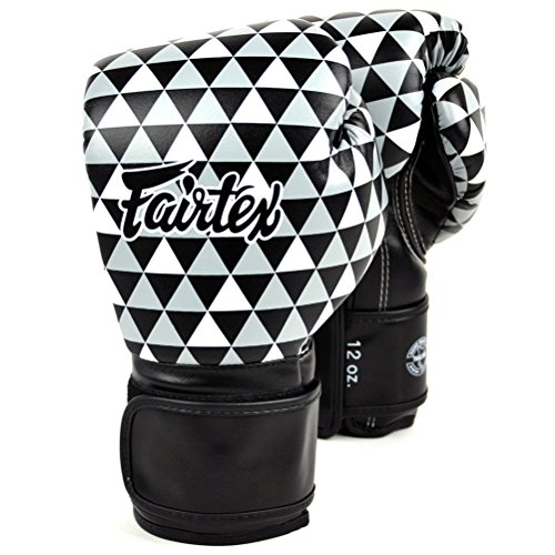 Fairtex Muay Thai Boxhandschuhe BGV14 Training Sparring Handschuhe Muay Thai Kickboxen MMA K1, unisex Kinder Herren damen - Optical Art-Prism 12oz 340g