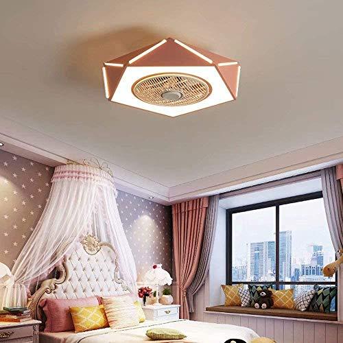 Raelf LED ventilador Control de techo Control ligero Luz Luz Lámpara de techo Lámpara de techo Ventilador de techo invisiable con iluminación Moderno Moderno Dimmable Ajustable Velocidad de viento Ven