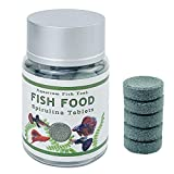 Demoyu Tableta de Alimentos Naturales para la alimentación Astaxantina y Spirulina Algas para Acuario Fish Tank Supplies Nutrition Tropical Fish Feed Sharprim (Color : Light Green)