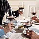Krosno Rot-Weingläser   Set von 6   490 ML   Avant-Garde Kollektion   Perfekt für zu Hause, Restaurants und Partys   Spülmaschinenfest und Mikrowellengeeignet - 5