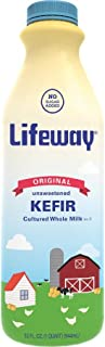 Lifeway Probiotic Original Cultured Plain Unsweetened Milk Kefir, 32 Ounce -- 6 per case.
