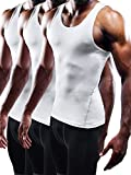 Neleus Men's Athletic 3 Pack Compression Tank Top Dry Fit...
