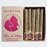 Brown Bear Herbs Take it Easy Blend, Classic Herbal Cigarettes, Organic Smoking Blend, no Tobacco, no Nicotine, Organic Herbs, USA