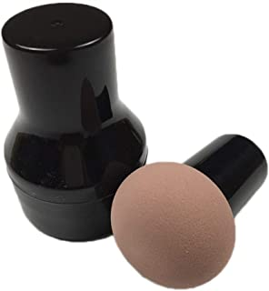 Powder puff foundation brush beauty egg mushroom head puff wet and dry dual-use water bubble big seal type foundation brush hoist puff Makeup Tool Coffee