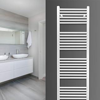 Radiador de baño Zimmerheld Heat Basic, calentador de toallas, conexión central, color: blanco