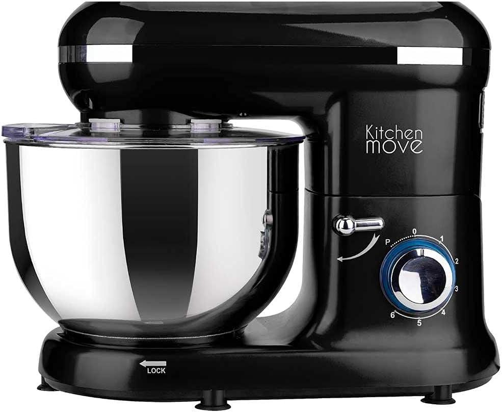 Robot de repostería multifunción 1500 W cuenco 5,5 L, color negro