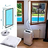 baskuwish Flexible Cloth Sealing Plate Window Seal for Portable Air Conditioner,Push and Pull Window Seal Plate,Open Window Frame Side Soft Board (3m+4m)