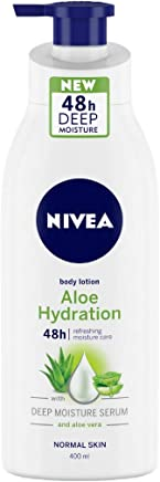 NIVEA Aloe Hydration Body Lotion, 400ml, with deep moisture serum and aloe vera for normal skin