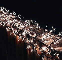 gresonic-Led-Cluster-10m long-string-light-power-operation decoration for inside outdoor garden christmas-tree wedding (warmwhite, 500LED)