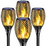 Solare Fiamma Luci,Shinmax Luci Solari Giardino, IP65 Impermeabile 33 LED Torce da Giardino Lampada,Solare Esterno Decorativo di Effetto Luce Fiamma,On/Off Auto Solare Fiamma Luci Giardini, Percorso