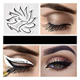 10pcs Eye Makeup Stencils Winged Eyeliner Stencil Template Shaping Tools Eyebrows Eye Shadow Makeup Template Tool Stickers Card (Color : 1)