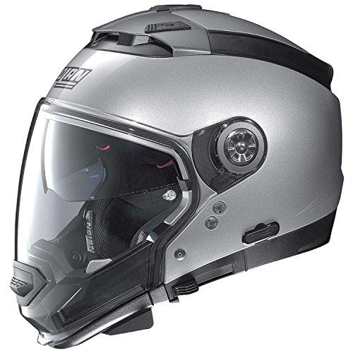 Casco modulare Nolan N44EVO CLASSIC motociclo Lexan N COM–Platino Argento Taglia 2X L