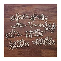 YVCHEN 9PCS /セット9モデルのWord工芸休暇旅行愛のギフト木製の装飾木製色の木製Wordの設定