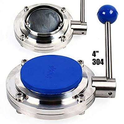 """4"""" Sanitary Butterfly Valve Stainless Steel 304 Tri-Clamp Food Grade TC-Clamp Sanitary 101mm for Food Beverage by TFCFL"""