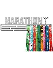 United Medals Marathon Sports Medaille Hanger Display | Roestvrijstalen houder Rack (3 Hang Bars tot 48 medailles) | Wandbevestiging Frame