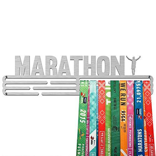 United Medals Porta Medaglie Marathon | Espositore in Acciaio Inossidabile (43cm / 48 Medaglie)